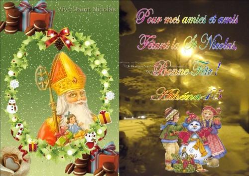 Vive St Nicolas pour nos amis du Nord et de l'Est !