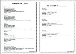 ecrire structure répéitive CP CE1 école thème