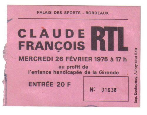 QUELQUE TICKET DE CONCERT