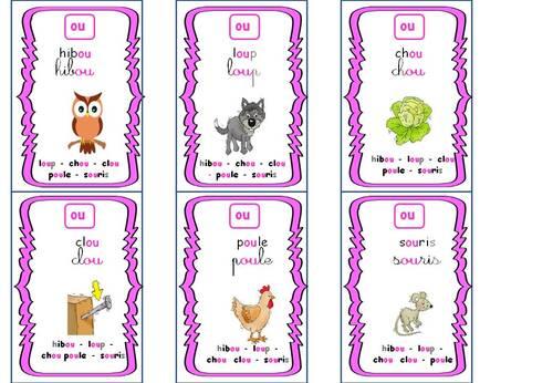 Les sons complexes : jeu des 7 familles