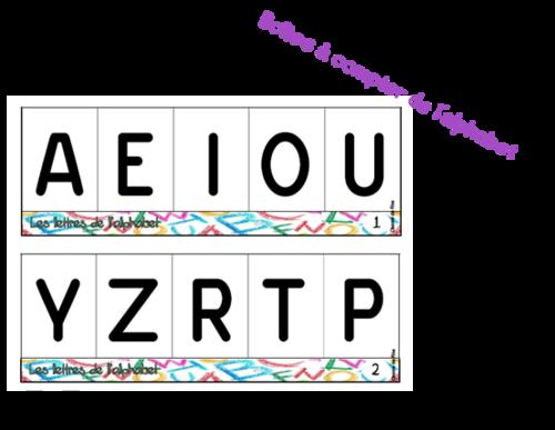 Boîtes à compter de l'alphabet