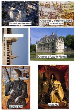 périodes historiques : images à rechercher dans le manuel