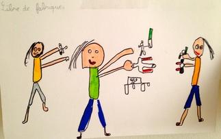 Laboratoire d'arts plastiques à l'école