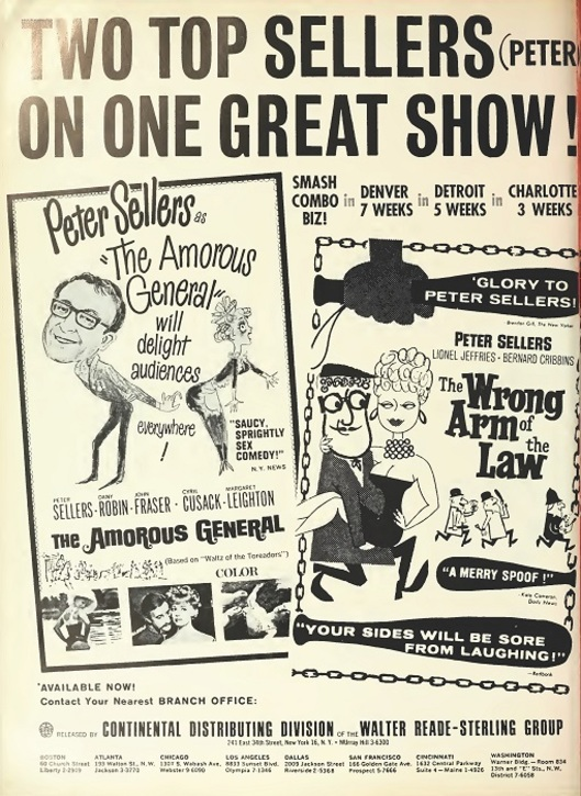 BOX OFFICE USA DU 25 JANVIER 1965 AU 31 JANVIER 1965
