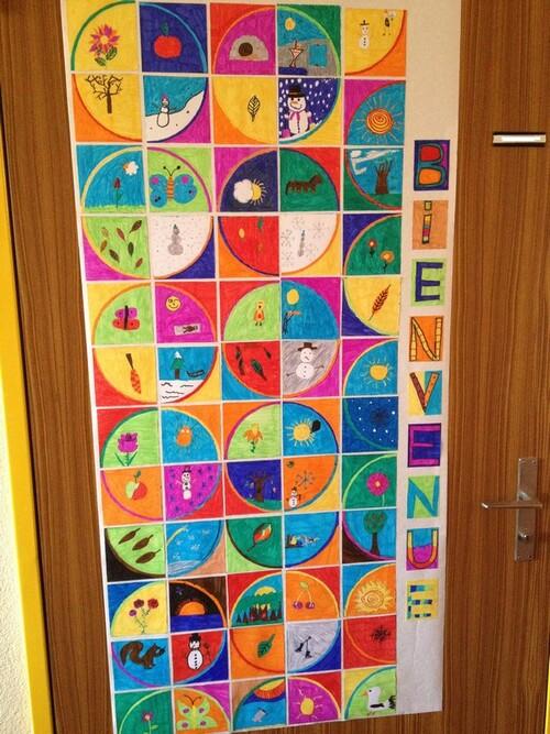 Décoration de la porte de la classe