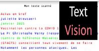 TextVision : scanner un document, l'adapter, le lire par voix de synthèse, et l'exporter... (Android )