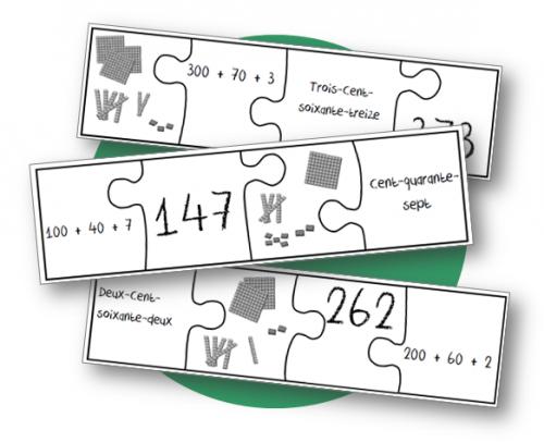 Numération - Jeu du puzzle