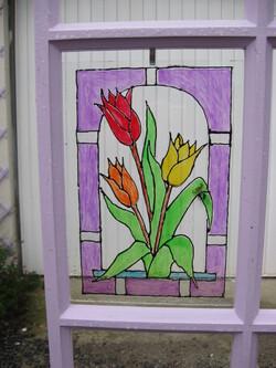 Avec de vieilles fenêtres..