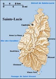 220px-Carte g%C3%A9ographique de Sainte-Lucie