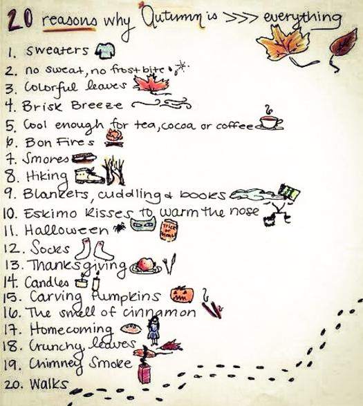 20 raisons d'aimer l'automne
