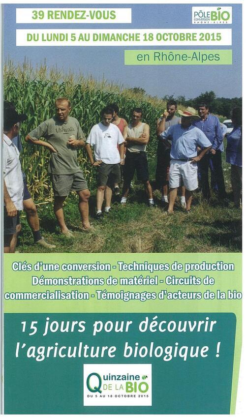 Quinzaine de la bio du 5 au 18 octobre 15 jours pour découvrir l'agriculture biologique !