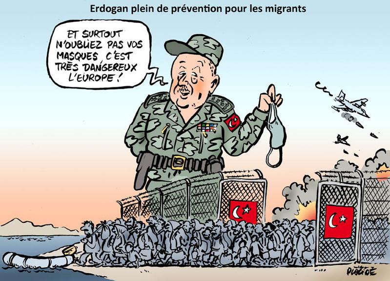 Erdogan menace l'Europe de « millions » de migrants