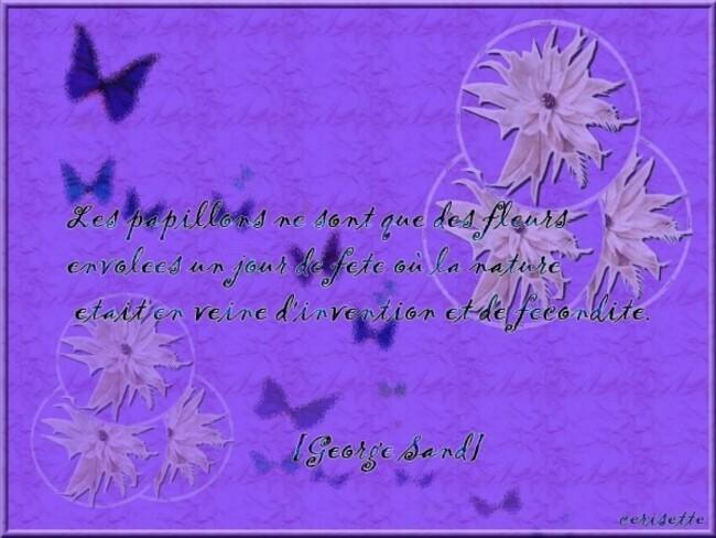 citation illustréeles papillons par georges sand