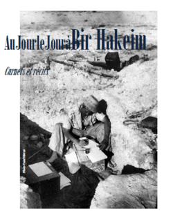 Au Jour le Jour à Bir Hakeim...témoignages de combattants