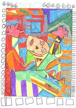 Guernica revisité par les élèves de CE2-CM1 et CM2