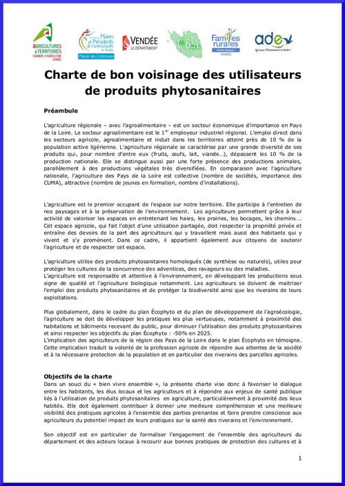 Une charte pour assouplir les règles d'utilisation des pesticides près des habitations : inacceptable!