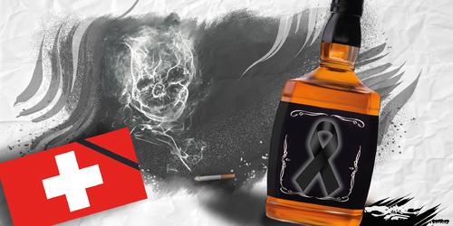 dessin de JERC du jeudi 07 décembre 2017 caricature Johnny Hallyday  c'était le dernier cancer de Johnny www.facebook.com/jercdessin