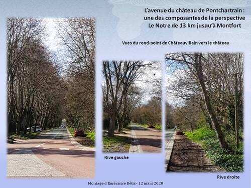 L'avenue du château de Pontchartrain