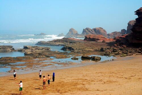 Les belles falaise rouges