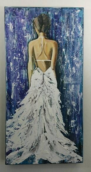Femme a la robe blanche
