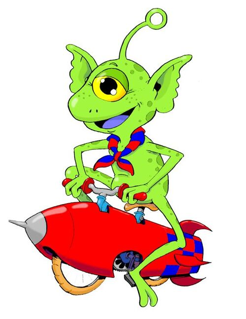 Alien à vélo