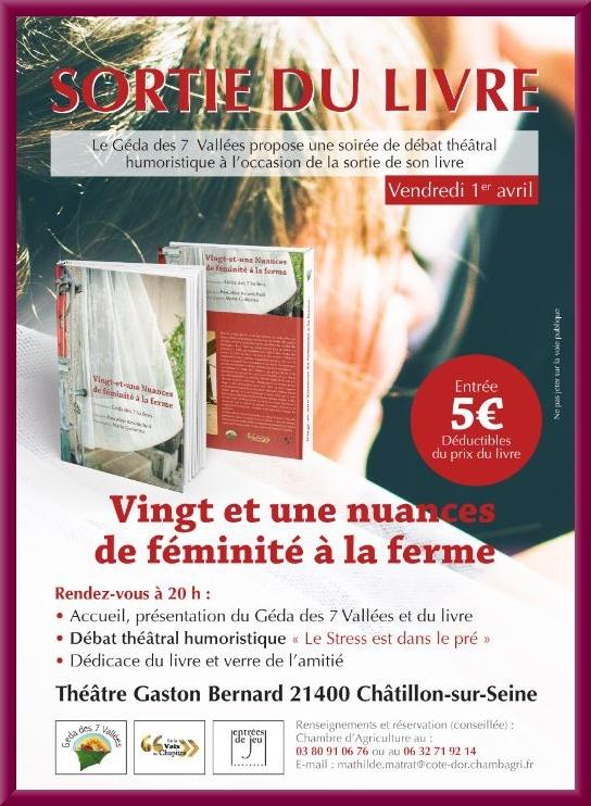 """Pascaline Kromicheff a écrit un nouveau livre """"Vingt et une nuances de féminité à la ferme"""" qu'elle a présenté  le vendredi 1er avril 2016"""
