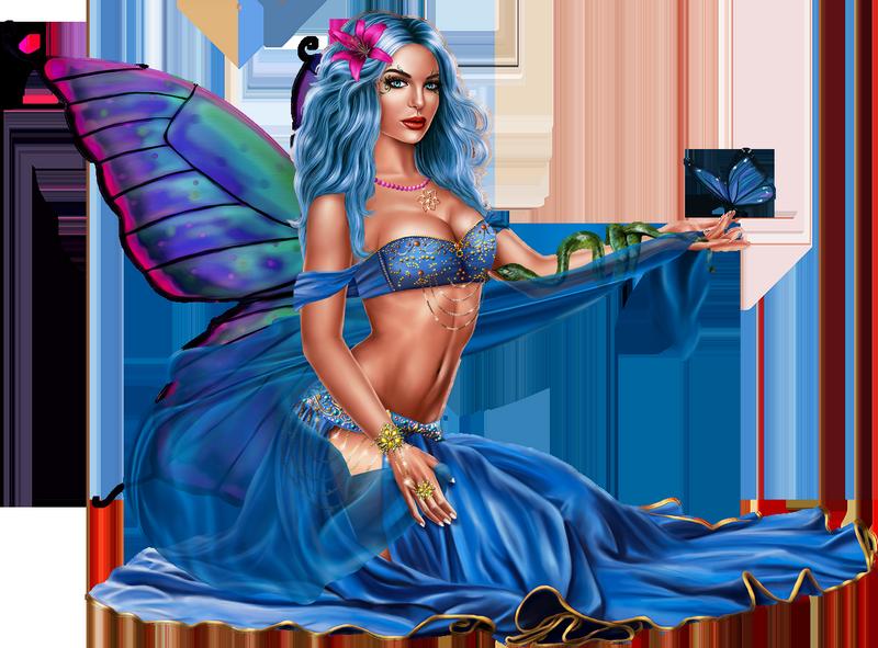 Tubes Femme Papillon