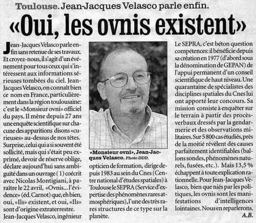 Jean Jacques Velasco et les ovnis