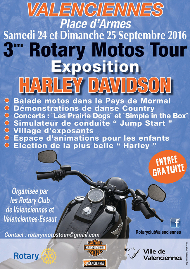 Rotary Motos Tour, à Valenciennes