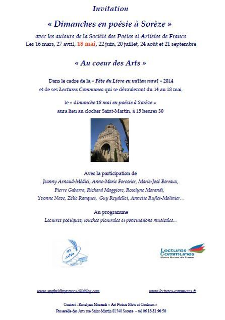 INVITATION 18 MAI À SORÈZE