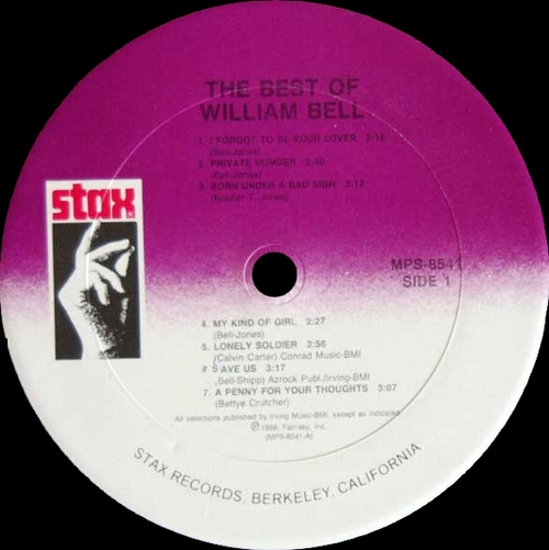 """William Bell : Album """" The Best Of William Bell """" Stax Records MPS-8541 [ US ]"""