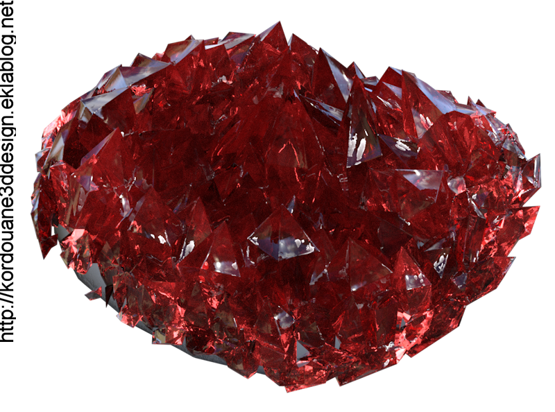Tube : Pierre quartz rouge (render)