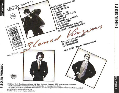 Frenchy But Chic # 113 : Blessed Virgins - ST (1982 Ed CD 1992)
