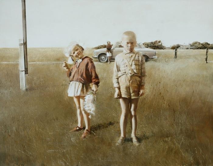 Vieux souvenirs: Tableaux de l'artiste biélorusse Andrei Zadorine
