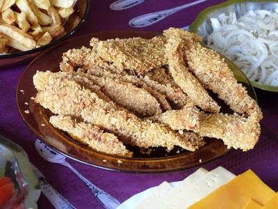 Blog de charlottopoire :Charlottopoire... mes petites créas..., Blanc de poulet façon kentucky - KFC