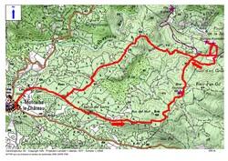 Le Circuit des Bornes frontière de 1258 depuis Montalba-le-Château