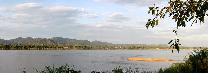 Thaïlande, Isan : autour de Ban Pheang sur les rives du Mékong.