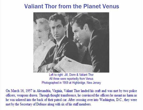 VALIANT THOR, l'extraterrestre qui a secrètement travaillé pour le gouvernement US