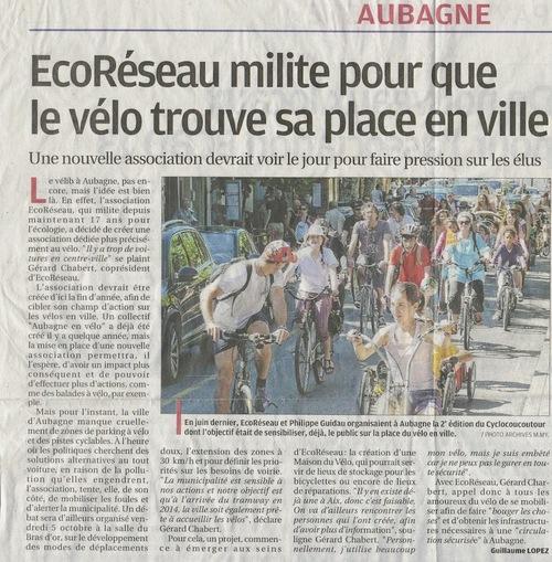 Place du vélo en ville