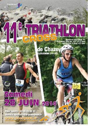 Triathlon vert de geugnon 28 juin 2014