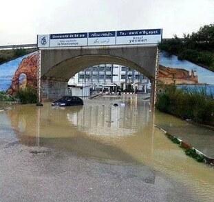 Arrêt sur image : Le campus Aboudaou inondé