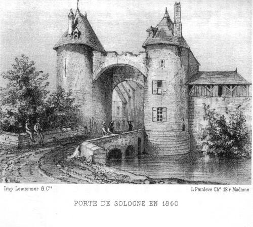 La porte de Sologne et ses deux tours… en 1840