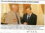 Dix ans d'échanges entre Malte et Saint Joseph