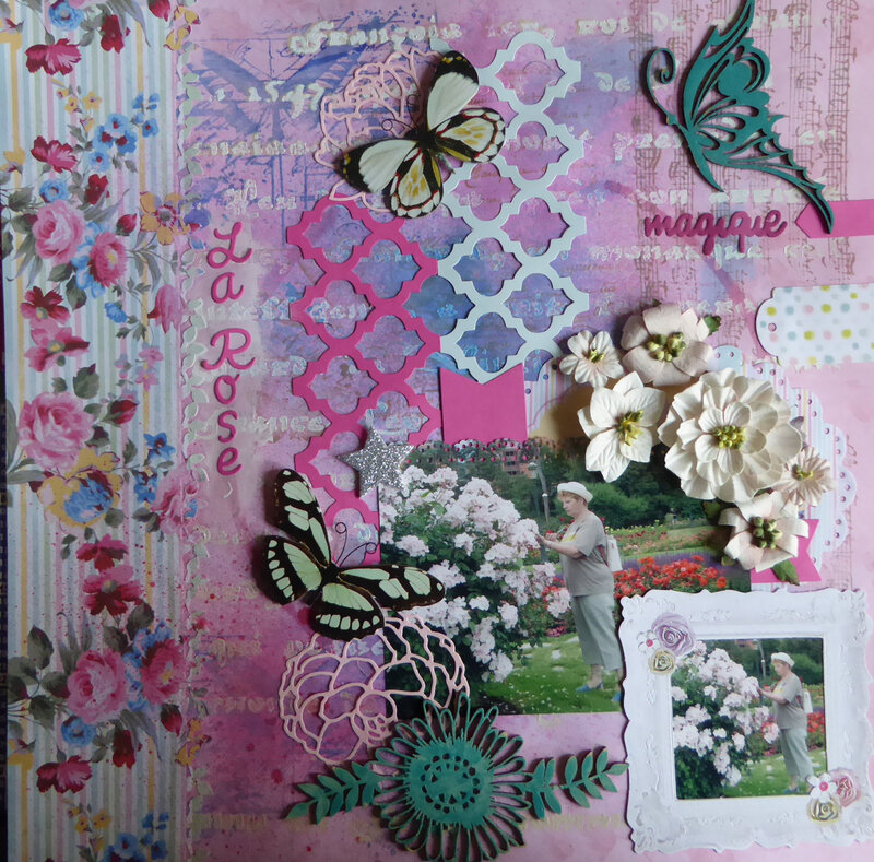 ODE  A  LA  ROSE - 14ème SCRAP