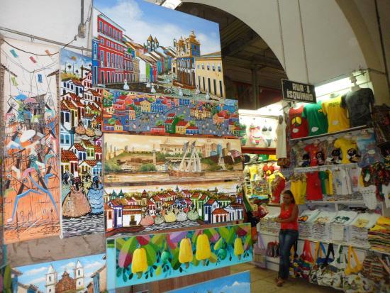 Résultat d'images pour Le Mercado Modelo de Salvador de Bahia au Brésil