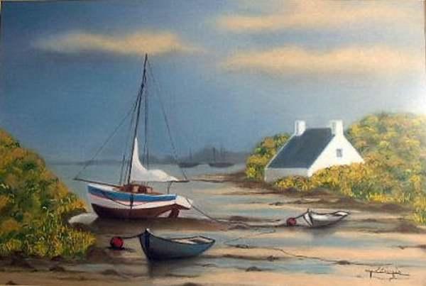 Peinture de : Michèle Ollivier
