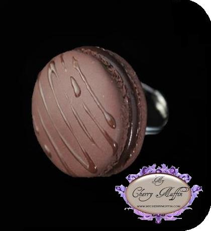 Bague macaron double chocolats My Cherry Muffin