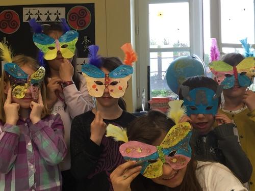 Réalisation de masques pour la Cavalcade
