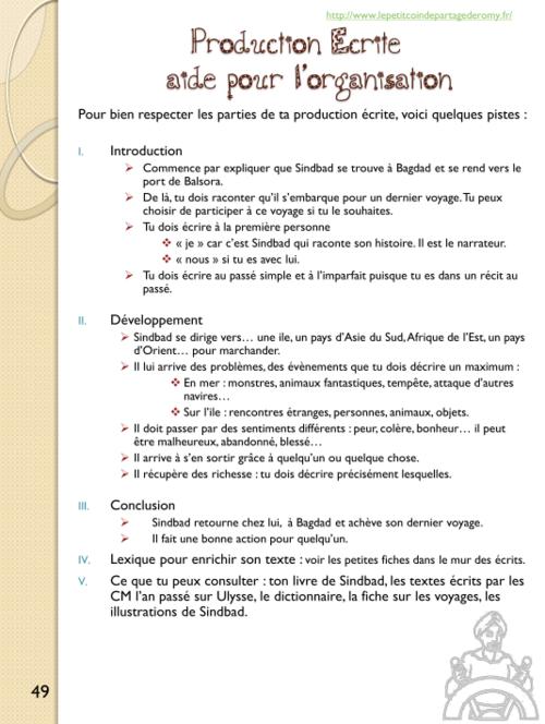 français - littérature : Sindbad le marin - CM