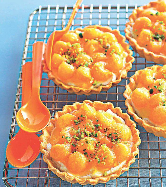 Tartelettes melon-mascarpone   Mini tarte, Dessert fraise et Recette